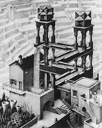 """""""Waterfall"""", de M. C. Escher."""