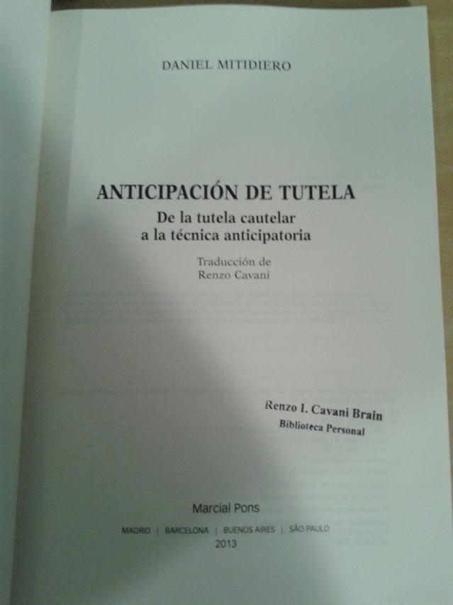 Daniel Mitidiero - Anticipación de tutela