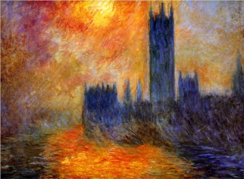 Monet, Le Parlement, coucher de soleil (1904)