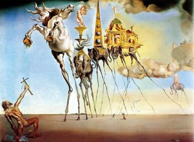 Salvador Dalí, La tentación de San Antonio (1946)