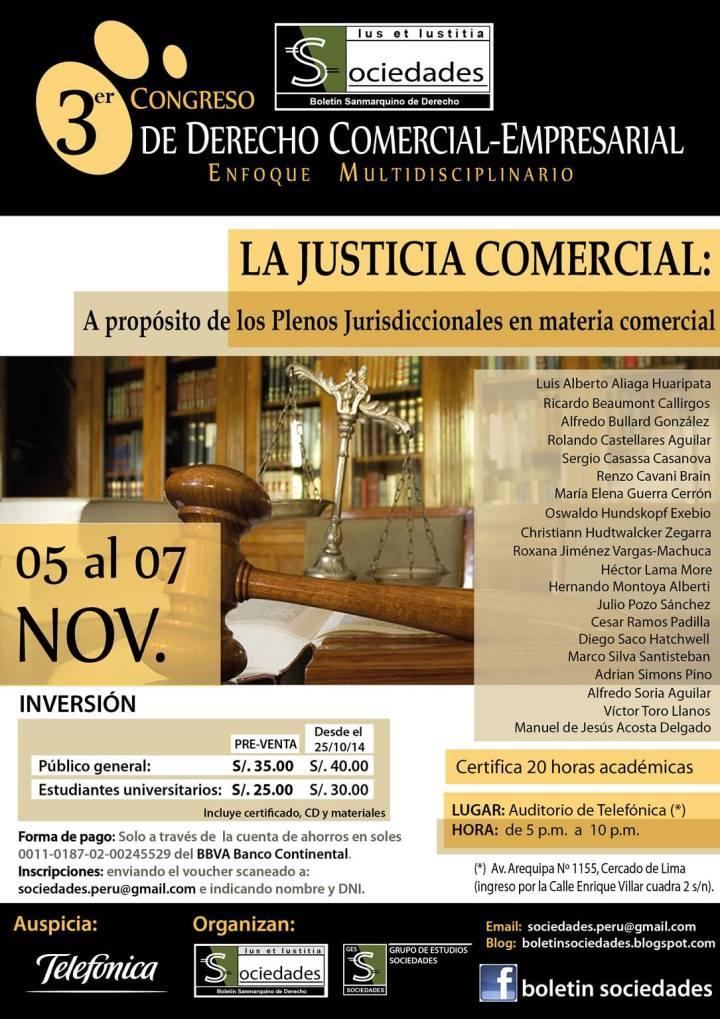Congreso Sociedades - Plenos jurisdiccionales