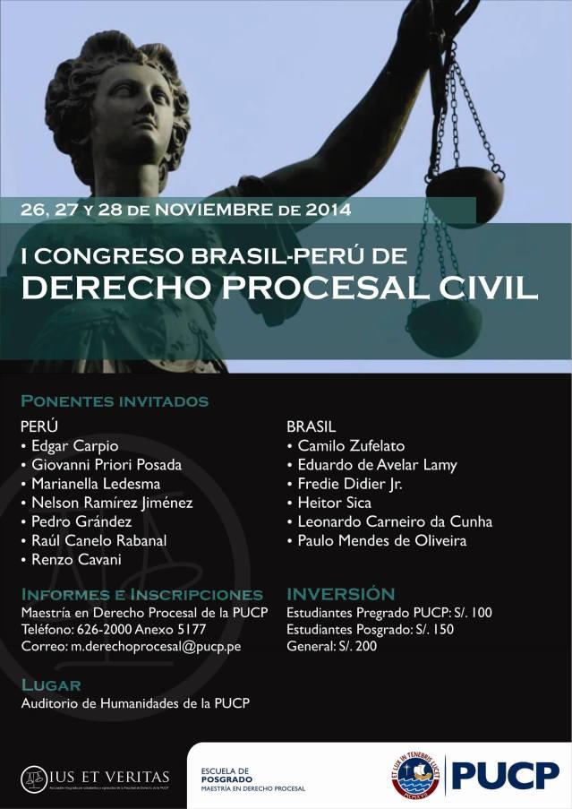I Congreso Brasil-Perú de Derecho Procesal Civil