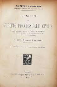 Chiovenda - Principii