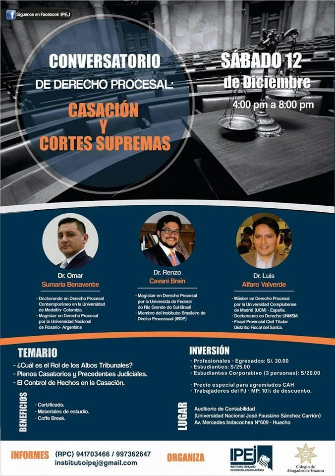 Conversatorio corte suprema - Huacho