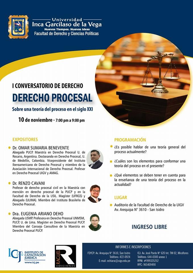 I Conversatorio de derecho procesal