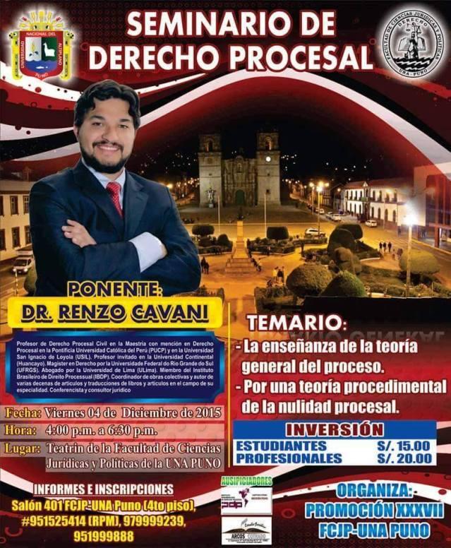 Seminario de derecho procesal - Universidad Nacional del Altiplano