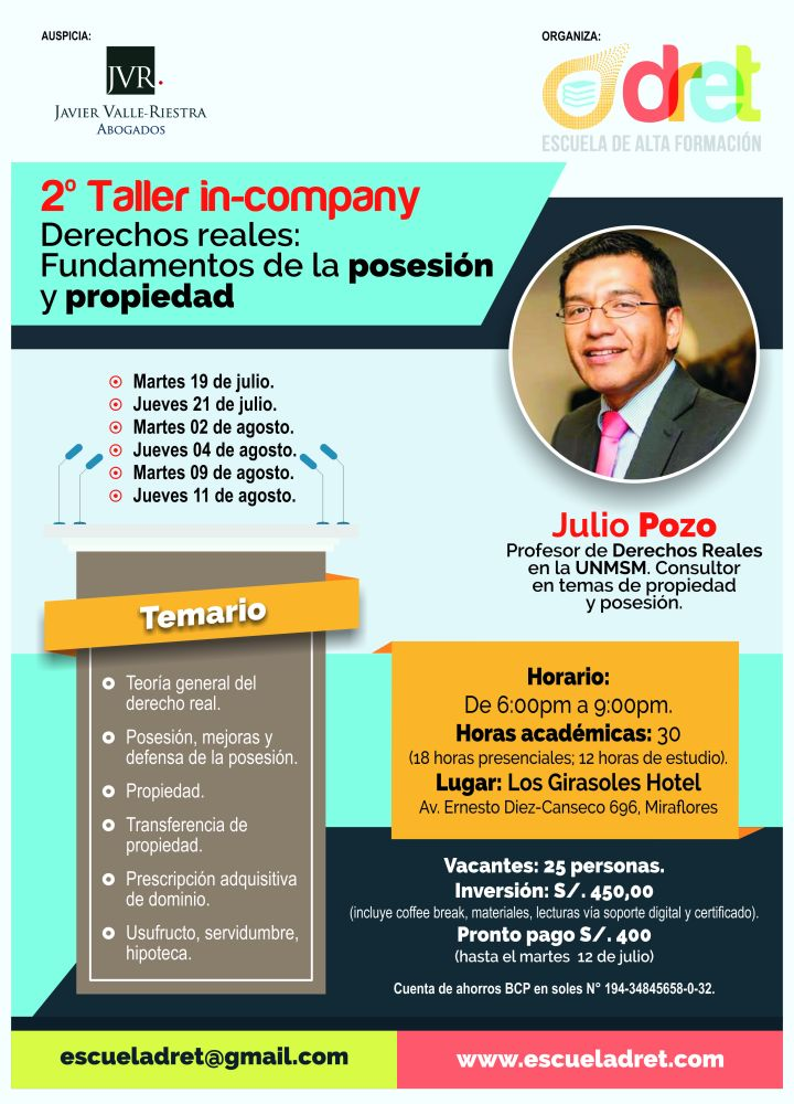 Afiche 2do. Taller in-company